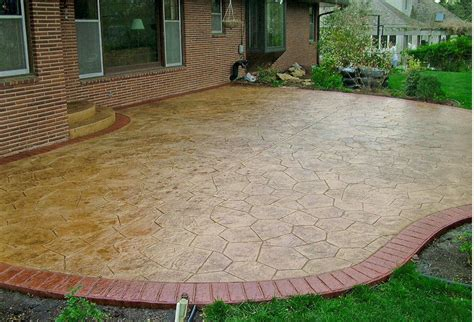sted concrete backyard ideas sted and stained concrete patio buchheit construction