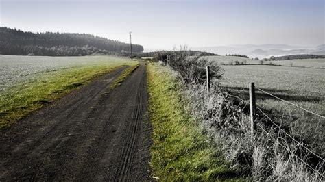 full hd wallpaper road ground village black  white