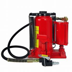 Air Hydraulic Bottle Jack 20 Ton Manual  40000lbs  Auto