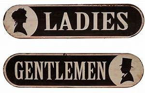 vintage style metal bathroom signs farmhouse other With antique bathroom sign