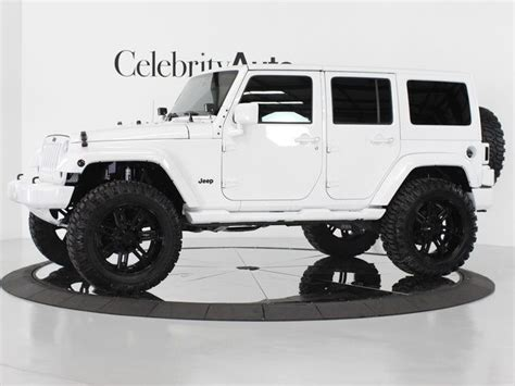 jeep wrangler white 4 door custom white 4 door jeep wrangler cars pinterest 4x4 2013