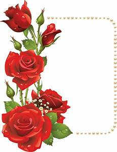 Red Flowers Frame Png Frame with red roses and ...
