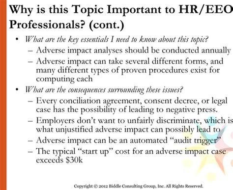 adverse impact analysis template   page