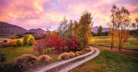 herbst landschaft  neuseeland hd hintergrundbilder