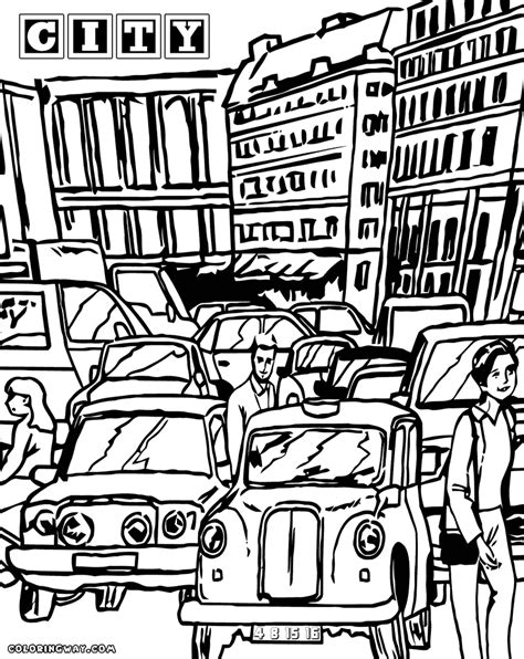city coloring pages coloring pages    print