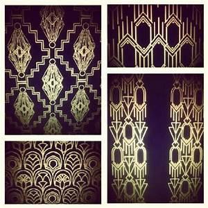 Great Gatsby inspired Art Deco Pattern Designs - Allison ...