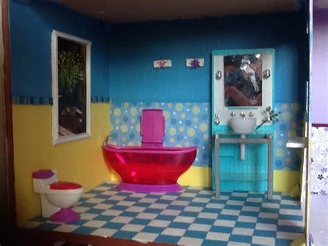 Barbie Dollhouse Bathroom Diy  Diy Large Barbie Dollhouse