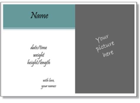 birth announcement templates  print