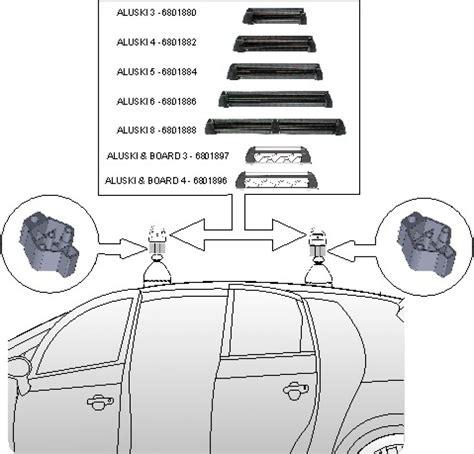 porta sci per auto aluski 3 portasci per barre portatutto da tetto fabbri