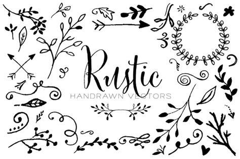 rustic handrawn vectors illustrations  creative market