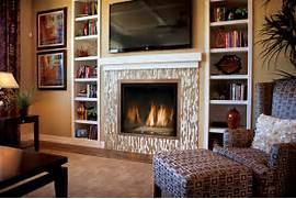 Products Fireplace Place OKC Robert Abbey Bling Chandelier Contemporary Living Room Jennifer Bright Lighting Above Minimalist Stacked Stone Fireplace For Appealing