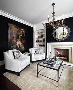 Black, And, White, Living, Room, Decoration