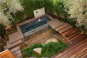 bild kleiner garten terrasse wasserspiele With französischer balkon mit wasserspiel garten modern