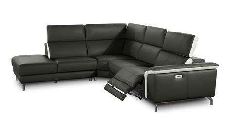 Canapé D'angle Cuir Relaxation  Canapé D'angle Cuir