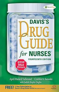 Drug Book With Nursing Implications