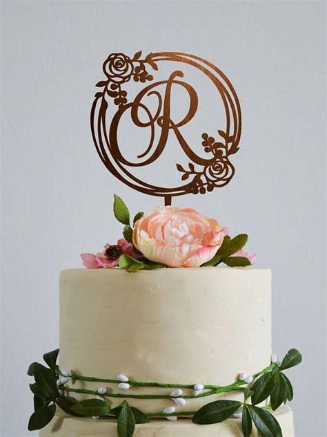 wedding monogram cake topper initials custom cake toppers letter  wedding cake topper gold