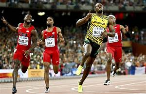 The 100 metres world record set by superstar Usain Bolt is ...