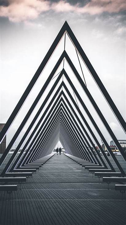 Architecture Triangle Structure Geometric Background Iphone Galaxy