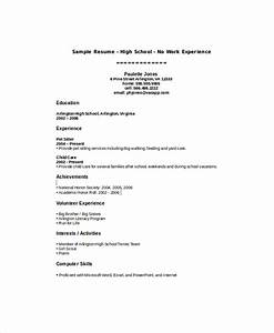 Sample High School Student Resume 8 Examples in Word PDF
