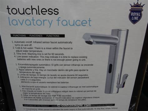 Touchless Lavatory Faucet Royal Line by Royal Line Touchless Lavatory Faucet