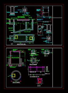 Septic Tank And Soak Pit In Autocad