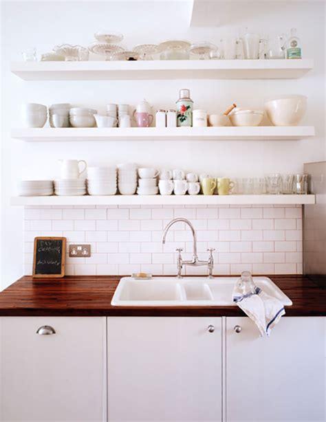 trend floating shelves   kitchen la la lovely