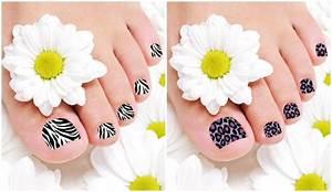 Pegatinas decoradas para las uñas de los pies