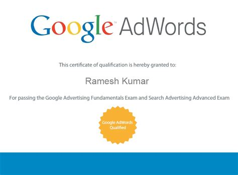 free advertising courses with certificates 5 tips to pass adwords in attempt