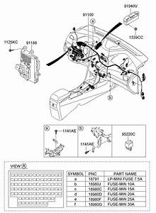 2013 Hyundai I30 Junction Box Assembly  Pnl  Electrical