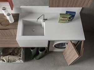 Waschmaschine Unter Waschbecken : praktische designer schr nke f r hauswirtschaftsraum ~ Sanjose-hotels-ca.com Haus und Dekorationen