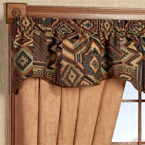 tucson southwest shaped valance window treatment