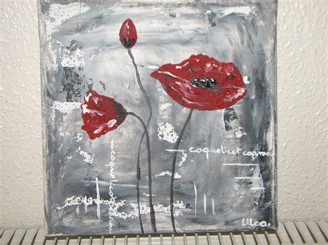 peinture de fleurs moderne pin tableau toile fleurs coquelicot prune gris moderne designtableau on