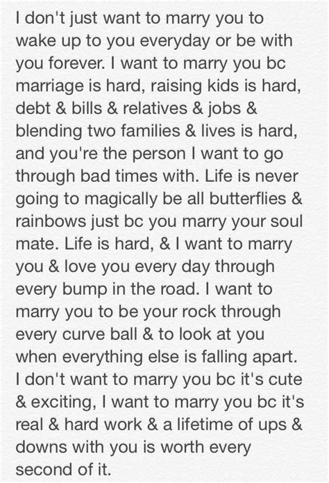 Wedding Quotes : I want to marry you because.. - Wedding