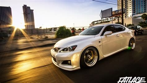stanced lexus isf low lexus is f rides at dusk autoevolution