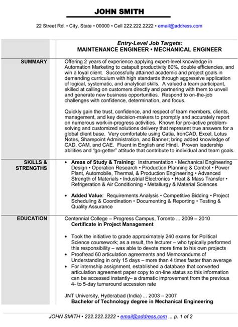 sle resume for freshers engineers pdf 28 images resume sle resume format for experienced engineers 28 images