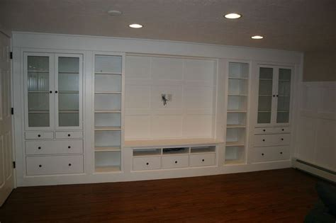 ikea built in cabinets wall of built ins out of ikea hemnes cabinets
