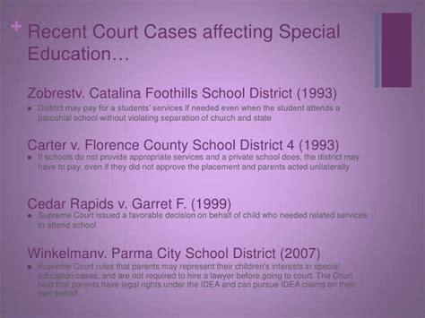 special education court cases