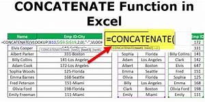 Concatenate Excel Function