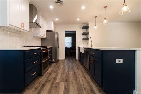 navy copper kitchen remodel jarrell signature