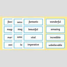 Evaluative Adjective Word Cards Positive Australia