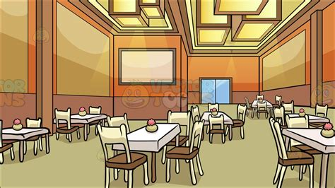 A Restaurant Dining Room Background  Clipart By Vector Toons