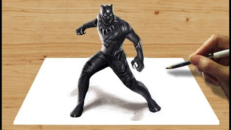 pencil drawing marvels black panther speed draw