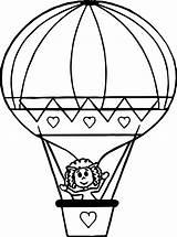 Balloon Coloring Air Printable Sheets Getcolorings Unbelievable Getdrawings Source sketch template
