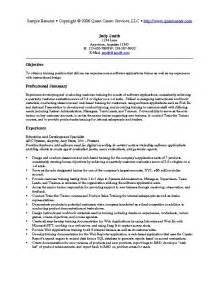 resume for trainer sle resume exle 7 hr or resume