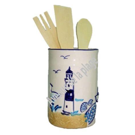 pot ustensiles cuisine pot en céramique porte ustensiles décoration de cuisine marine