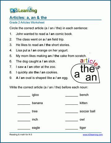 grade  parts  speech worksheets  learning