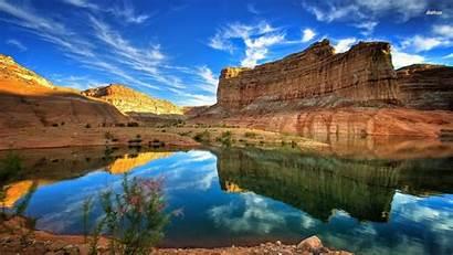 Canyon Grand Wallpapers Resolution Sunset Lake Desktop