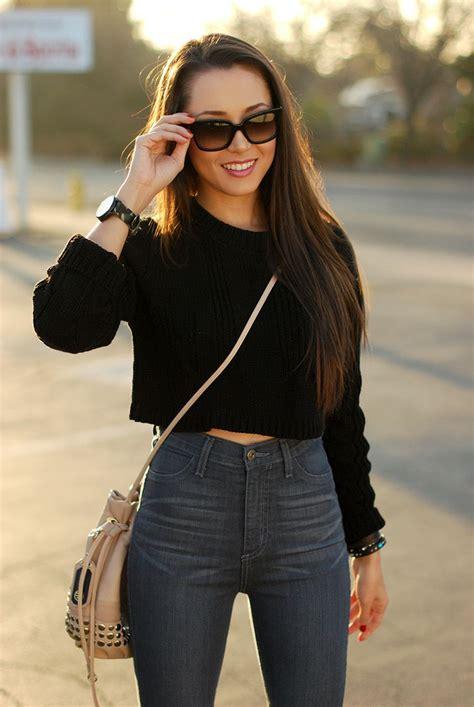 How to Style Cropped Sweaters u2013 Glam Radar