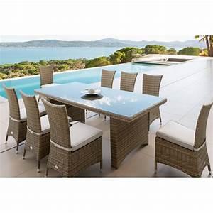 Table De Jardin 8 Places : table de jardin cuba 8 places aluminium et r sine tress e hesp ride ~ Teatrodelosmanantiales.com Idées de Décoration