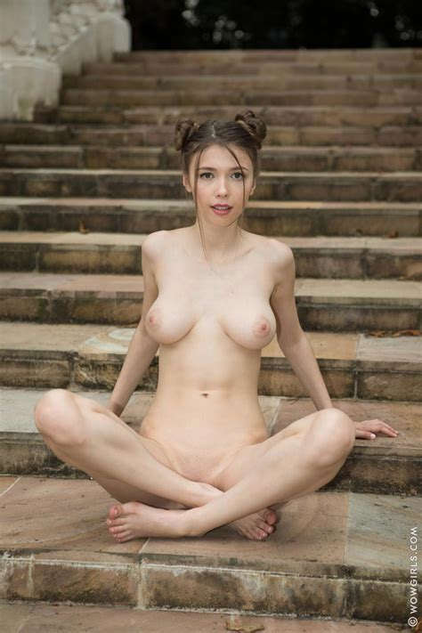 Mila Azul Naked On Stairs